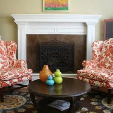 Traditional Living Room by Carolyn Shultz Fine Art
