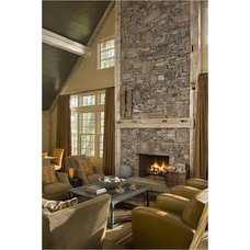 Rustic Living Room by Carter Kay Interiors