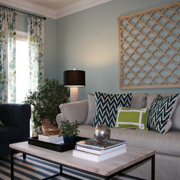 Living Room: Casual Chic With Vibrant Color
