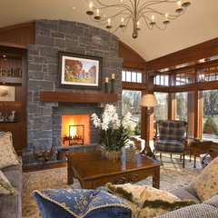 traditional living room by Charlie Simmons - Charlie & Co. Design, Ltd.