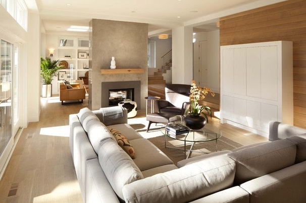 Transitional Living Room by Charlie & Co. Design, Ltd