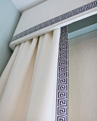 Greek Key Trim On Drapes Houzz