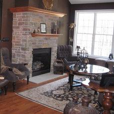 Traditional Living Room by Christine Sutphen, ASID, NCIDQ