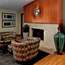 Contemporary Living Room by Cindy Abramovitz, Allied ASID