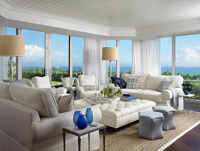 Beach Style Living Room by Cindy Ray Interiors, Inc.