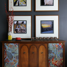 Eclectic Living Room by Claire Jefford at Creating Contrast Designs