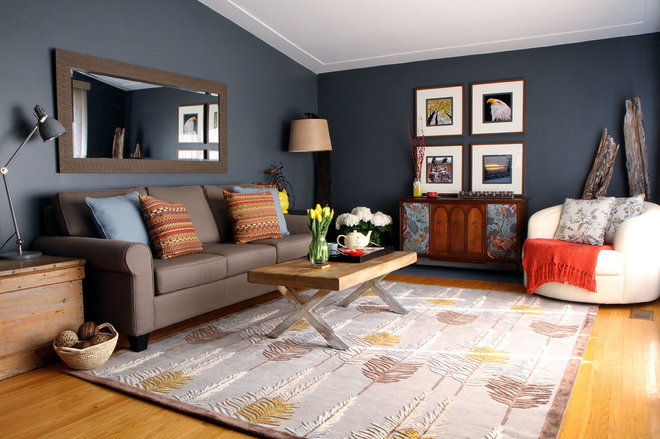 Contemporary Living Room by Claire Jefford at Creating Contrast Designs