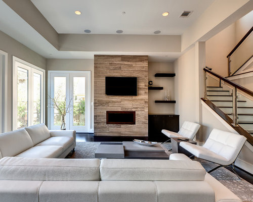 Contemporary Living Room Design Ideas attractive contemporary living room design with living room design contemporary modern innovative to decorate Mid Sized Contemporary Formal Open Concept Living Room Idea In Houston With A Ribbon Fireplace