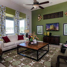 Eclectic Living Room by Connie Anderson Photography