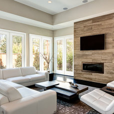 Contemporary Living Room by Connie Anderson Photography