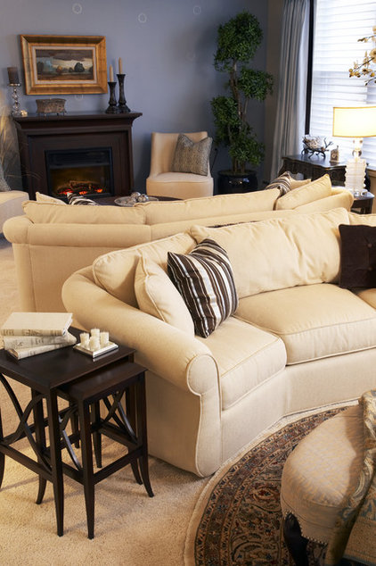Contemporary Living Room by Connie Wersal-LaVelle, Allied ASID