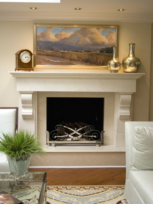 Contemporary Fireplace Mantle Accessories Design Ideas Remodel – Ideas for Mantel Decor