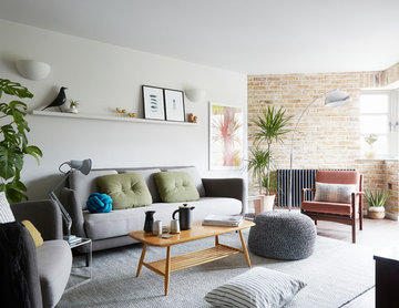 LIVING ROOM | Cool Greys, Muted Colours & Mid Century Pieces