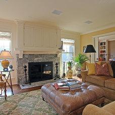 Farmhouse Living Room by Corbo Associates Inc.