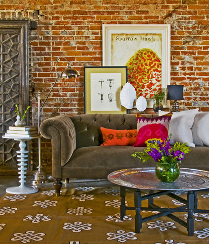 eclectic living room by Coveted Home