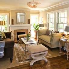 Traditional Living Room by Coveted Home