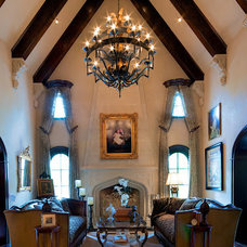 Mediterranean Living Room by Creative Lighting