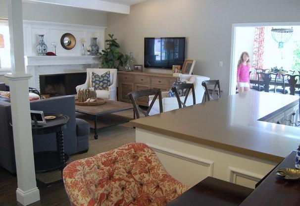 Transitional Living Room by Dana Nichols