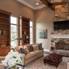 Traditional Living Room by David Mills Custom Homes
