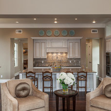 Traditional Living Room by David Mills Custom Homes