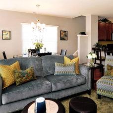Contemporary Living Room by David Schaf Interiors, LLC