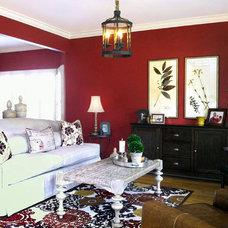 Traditional Living Room by David Schaf Interiors, LLC