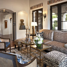 Mediterranean Living Room by Dayna Katlin Interiors