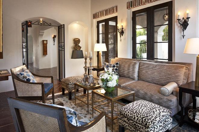 Mediterranean Living Room by Dayna Katlin Interiors