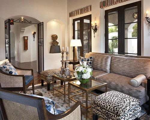 Mediterranean Formal Living Room Idea In Los Angeles