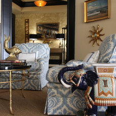 Traditional Living Room by Deborah Houston Interiors