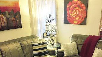Living Room Decor by Elle James Interiors