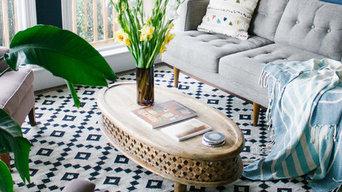 Living Room Decor Featuring Jaipur's Scandinavia rug