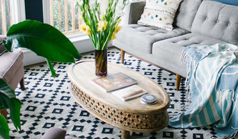 Living Room Decor Featuring Jaipur's Scandinavia rug