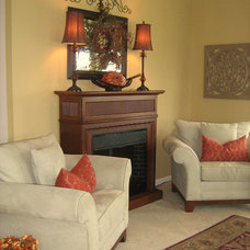 Traditional Living Room Living Room Decorated for Fall
