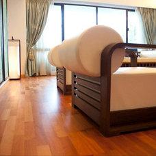 Asian Living Room by Alexandra Lauren Designs