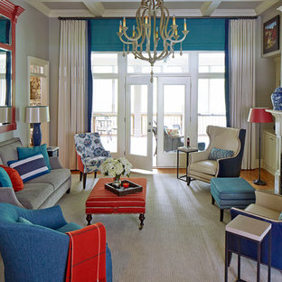 Red And Blue Living Room Ideas Photos Houzz