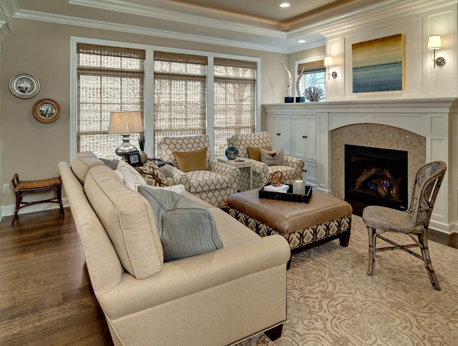 Traditional Living Room by Design By Lisa