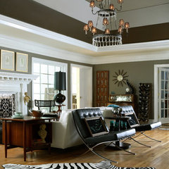 eclectic living room by Design Theory Interiors