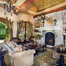 Mediterranean Living Room by Kern & Co. - Susan Spath Interior Design