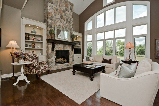 Traditional Living Room by Designing Durham