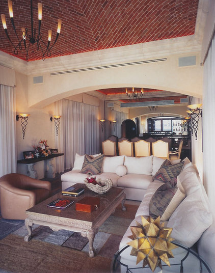 mediterranean living room by Jerry Jacobs Design, Inc.