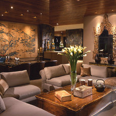 Asian Living Room by Donna Livingston Design