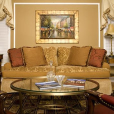Traditional Living Room by DW Design & Decor LLC