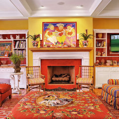 eclectic living room by Echelon Custom Homes
