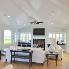 Beach Style Living Room by Echelon Custom Homes