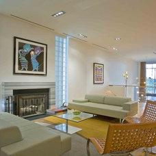 Contemporary Living Room by Edward Kozanlian Architect LLC
