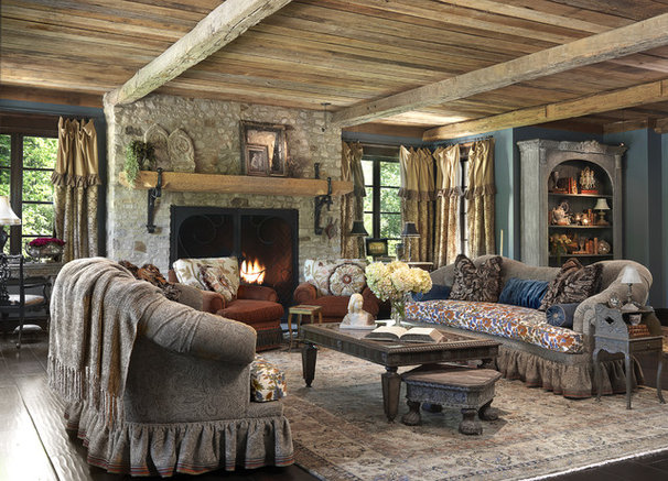 Traditional Living Room by Edwin Pepper Interiors