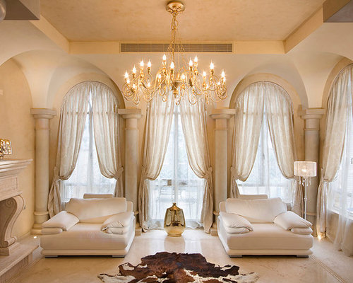 Arched windows curtains home design ideas pictures Elegant window treatment ideas