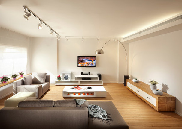 Contemporary Living Room by Elad Gonen