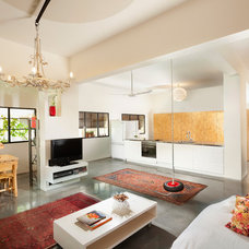 Eclectic Living Room by Elad Gonen